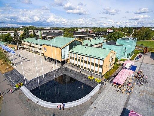 Ilmakuva Vantaan kaupungintalosta